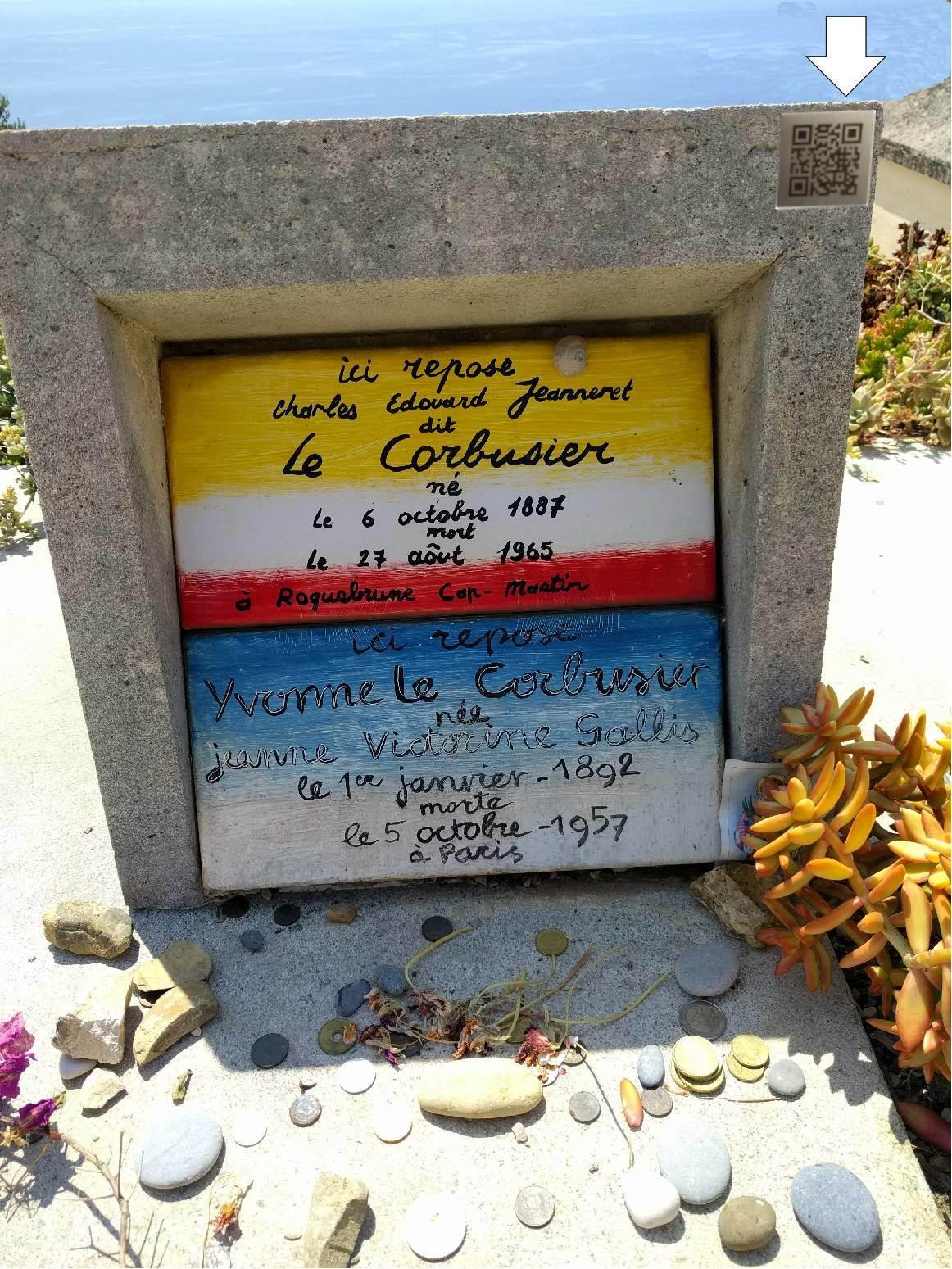 Le Corbusier tombstone